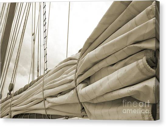Sails Are Down 2 Canvas Print