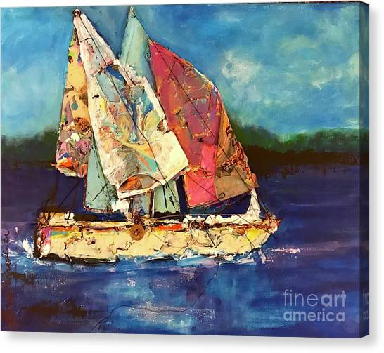 Sails Away Canvas Print