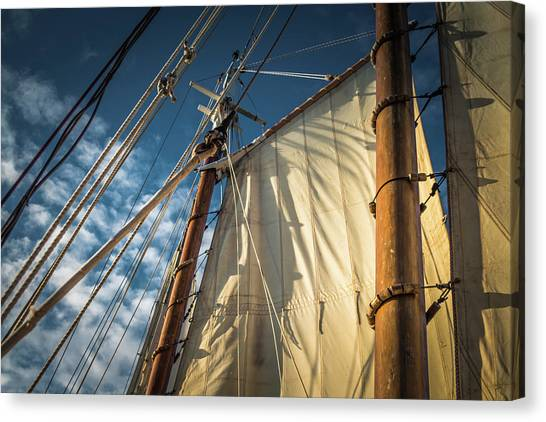 Sails In The Breeze Canvas Print