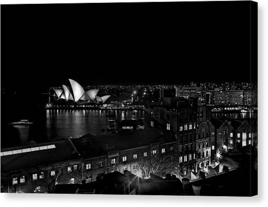 The Crown Canvas Print - Sails In The Night by Az Jackson