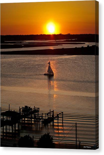 Sails In The Sunset Canvas Print