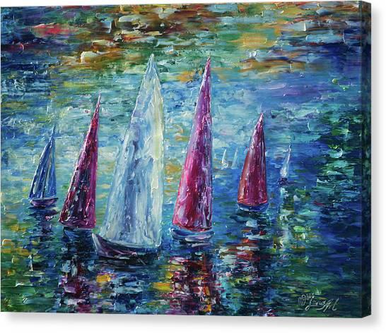 Sails To-night Canvas Print
