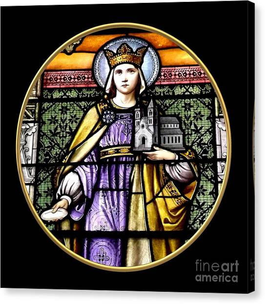 Canvas Print featuring the photograph Saint Adelaide Stained Glass Window In The Round by Rose Santuci-Sofranko