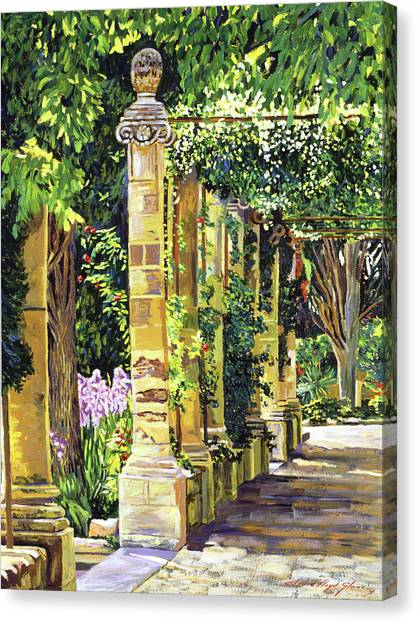 Saint-andre Abbey France Canvas Print by David Lloyd Glover