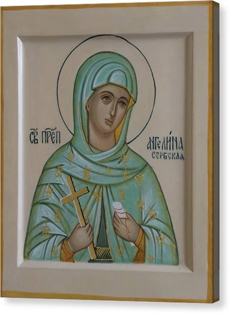 Orthodox Canvas Print - Saint Angelina by Alyona Pastuhova