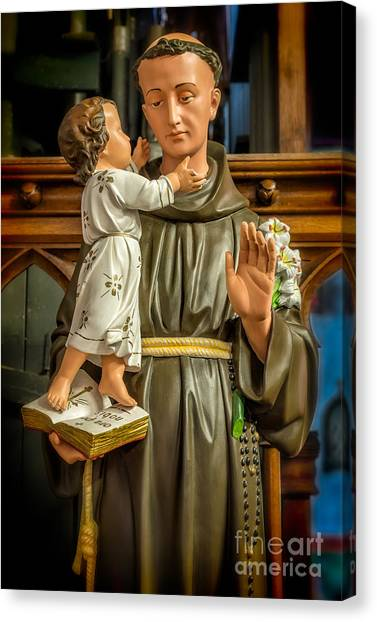 Rosaries Canvas Print - Saint Anthony by Adrian Evans