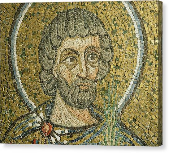 Early Christian Art Canvas Print - Saint Barbaziano by Italian School