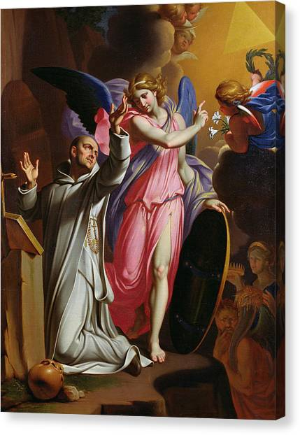Chartreuxes Canvas Print - Saint Bruno At Prayer by Adrien Sacquespee