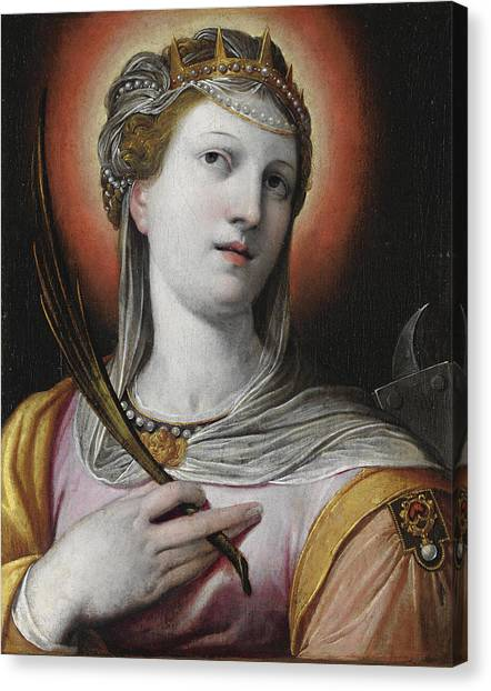 Procaccini Canvas Print - Saint Catherine by Camillo Procaccini