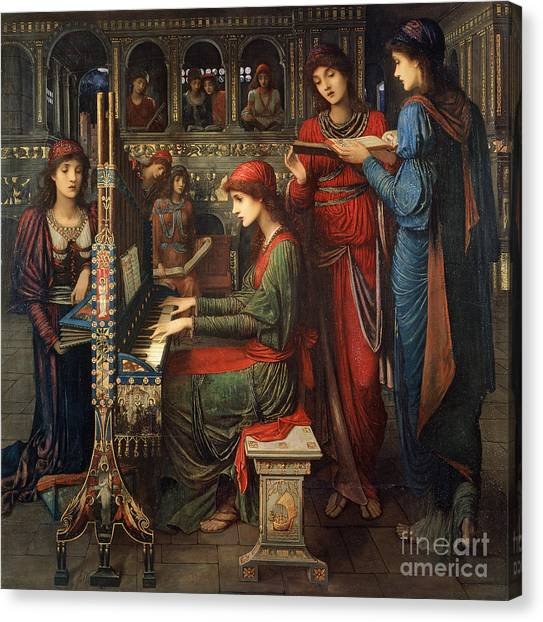Harpsichords Canvas Print - Saint Cecilia by John Melhuish Strudwick