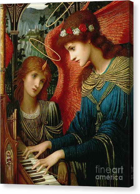 Angel Canvas Print - Saint Cecilia by John Melhuish Strukdwic