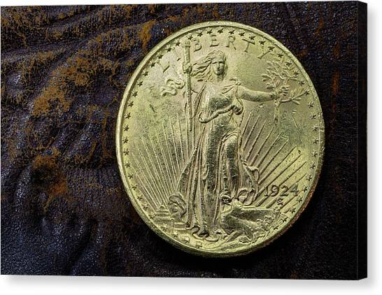 Saint Gaudens Gold Canvas Print by JC Findley