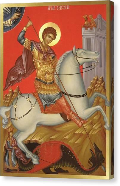 Saint George Canvas Print by Daniel Neculae
