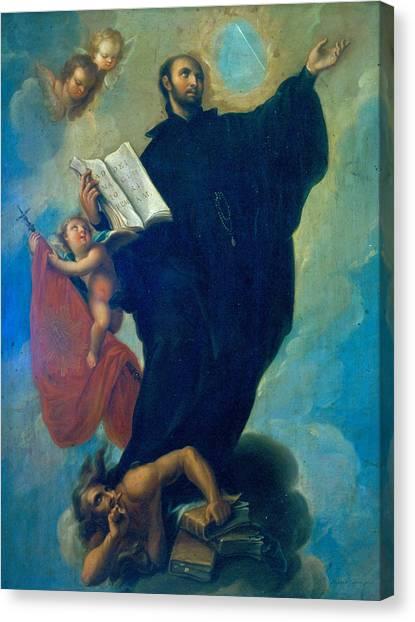 Miguel Cabrera Canvas Print - Saint Ignatius Loyola by Miguel Cabrera