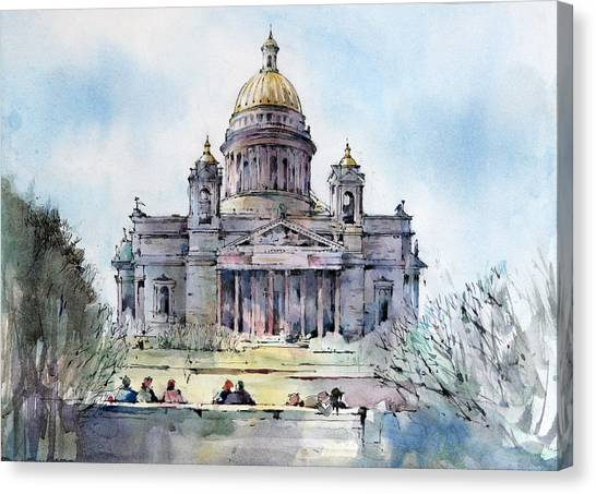 Canvas Print - Saint Isaac's Cathedral - Saint Petersburg - Russia  by Natalia Eremeyeva Duarte