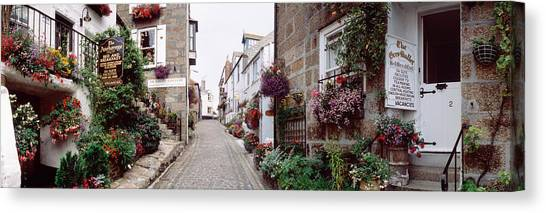 St Ives Canvas Print - Saint Ives Street Scene, Cornwall by Panoramic Images