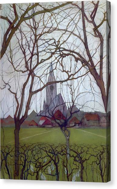De Stijl Canvas Print - Saint Jacob's Church, Winterswijk by Piet Mondrian