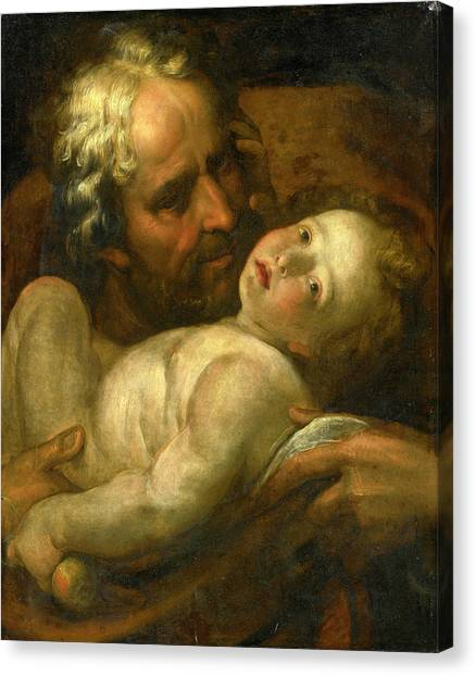 Procaccini Canvas Print - Saint Joseph And The Infant Christ by Giulio Cesare Procaccini