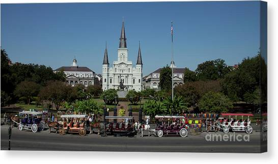 Canvas Print featuring the photograph Saint Lewis Cathedral French Quarter New Orleans, La by Ron Sadlier