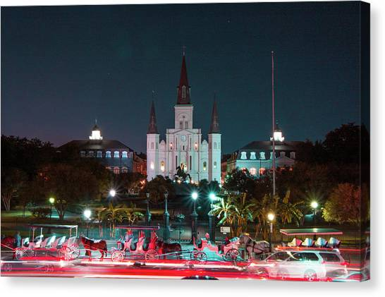 New Orleans Canvas Print - Saint Louis Cathedral by Marc Villere
