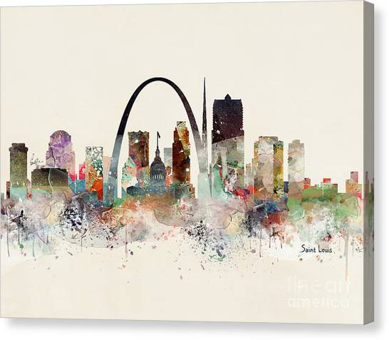 Catholic Canvas Print - Saint Louis Missouri by Bri Buckley
