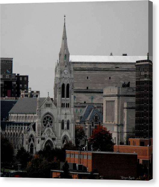 Saint Louis University Canvas Print - Saint Louis Skyline 3 by Ginger Repke
