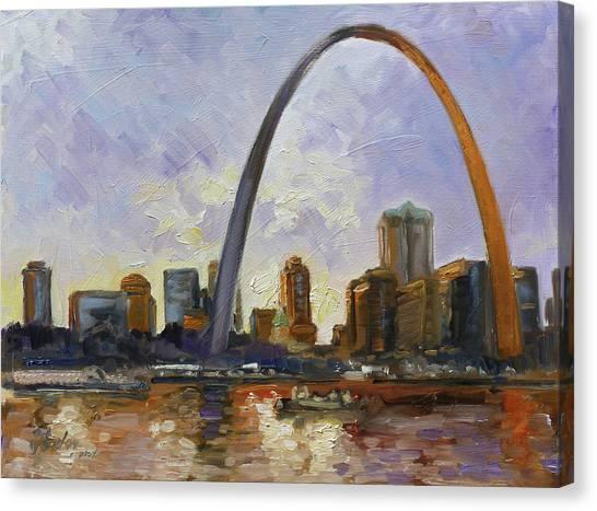 Canvas Print - Saint Louis Skyline 3 by Irek Szelag