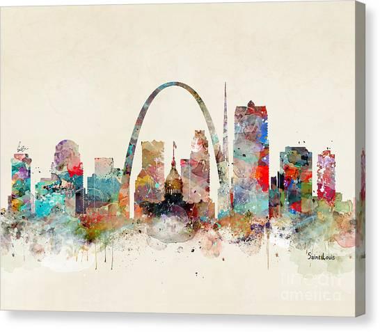 Catholic Canvas Print - Saint Louis Skyline by Bri Buckley
