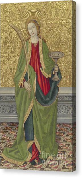 St Mary Canvas Print - Saint Lucy by Jaume the younger Vergos