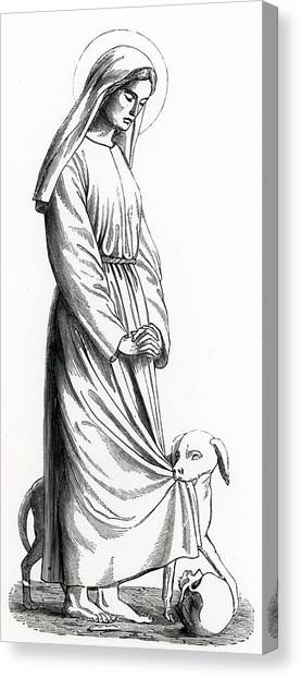 Accused Canvas Print - Saint Margaret Of Cortona by French School