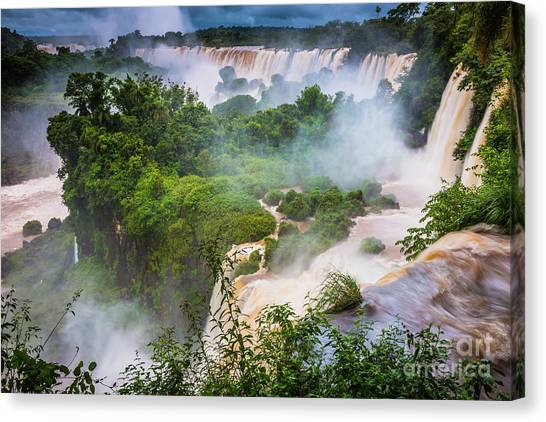 Iguazu Falls Canvas Print - Saint Martin Island by Inge Johnsson