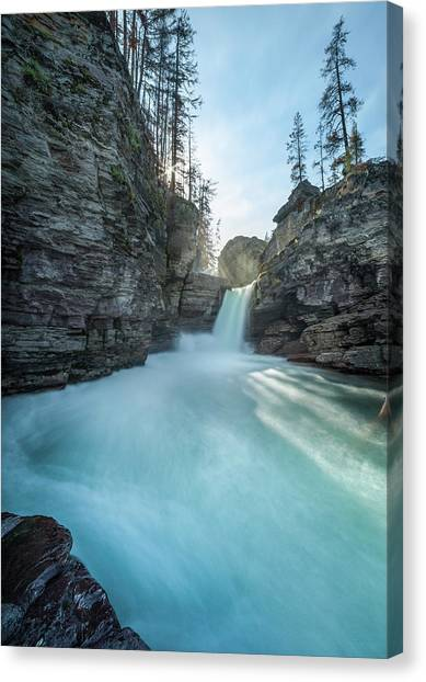 Saint Mary Falls // Glacier National Park  Canvas Print