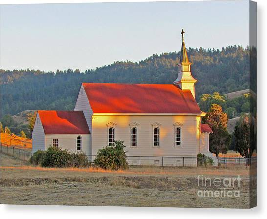 St. Mary's Church At Sunset Canvas Print