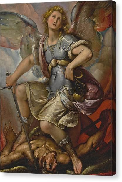 Procaccini Canvas Print - Saint Michael Archangel by Studio of Giulio Cesare Procaccini