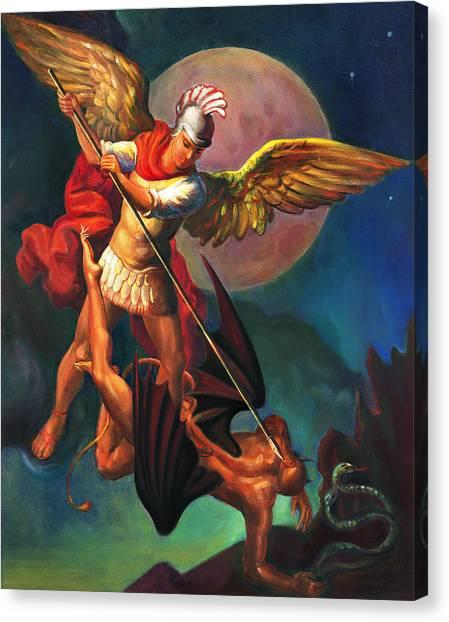 Saint Michael The Warrior Archangel Canvas Print