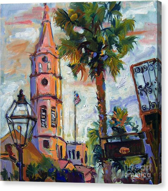 Saint Michaels Church Charleston Sc Oil Painting Canvas Print