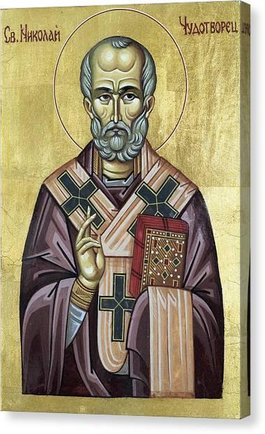 Saint Nicholas Canvas Print by Anton Dimitrov