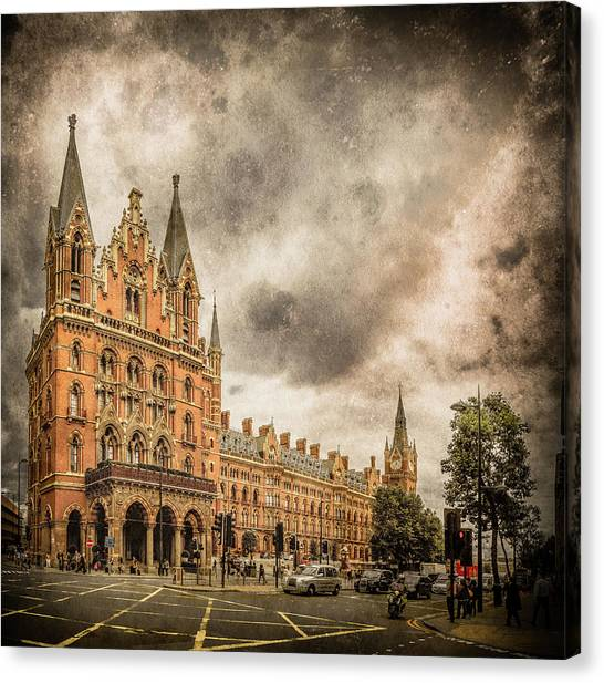 Canvas Print featuring the photograph London, England - Saint Pancras Station by Mark Forte