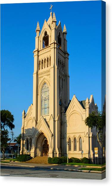 Saint Patrick Catholic Church Of Galveston Canvas Print