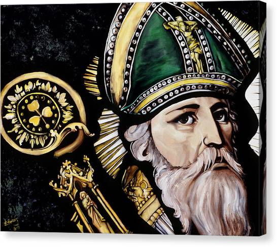 Saint Patrick Canvas Print by Leeann Stumpf