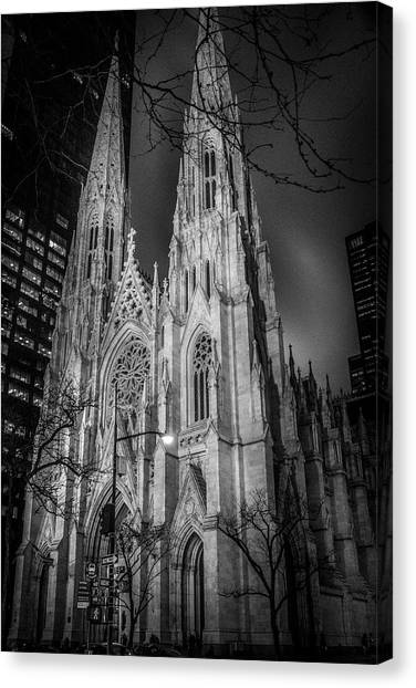 Saint Patrick's - At Night Canvas Print