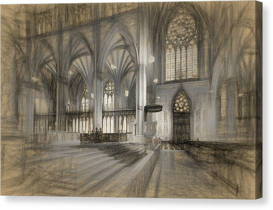 Saint Patrick's Cathedral In New York City Canvas Print