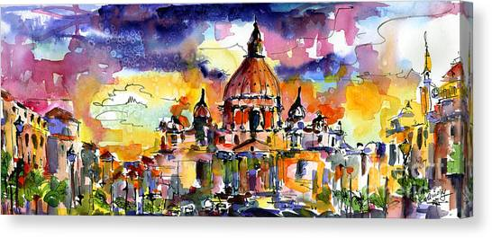 Saint Peter Basilica Rome Italy Canvas Print by Ginette Callaway