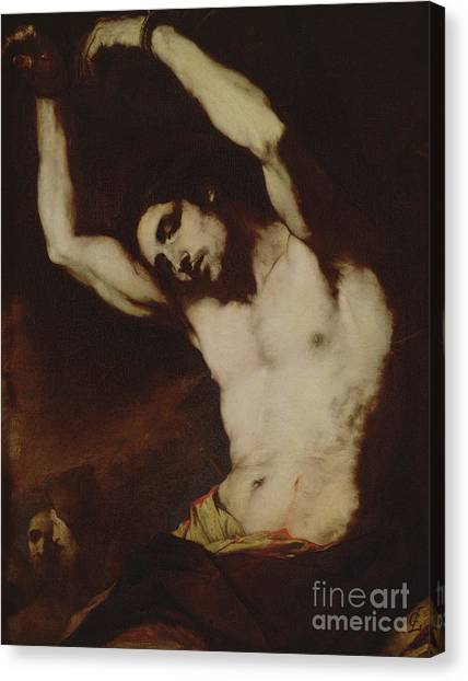 Early Christian Art Canvas Print - Saint Sebastian by Luca Giordano