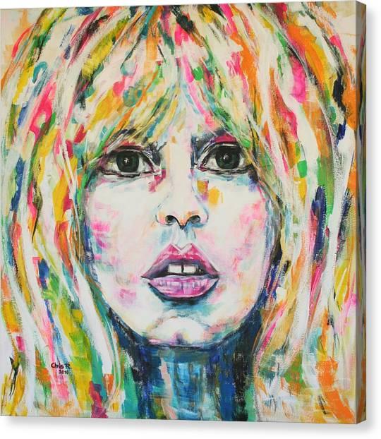 Saint Tropez Babe Canvas Print