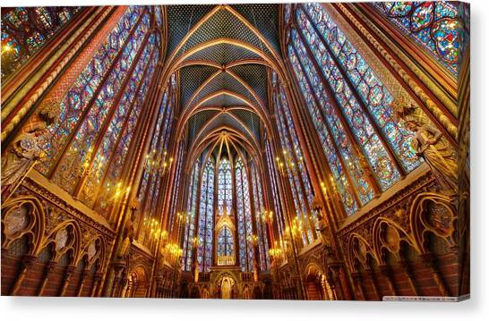 Vault Canvas Print - Sainte-chapelle by Jackie Russo