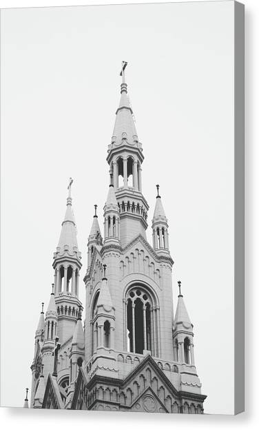 Confession Canvas Print - Saints Peter And Paul Church 1- By Linda Woods by Linda Woods
