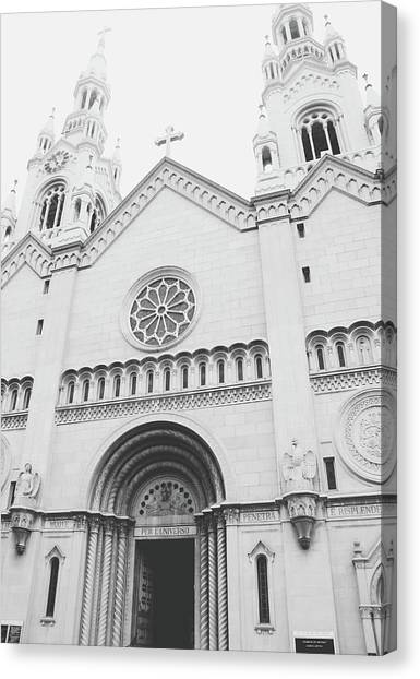Confession Canvas Print - Saints Peter And Paul Church 2-  By Linda Woods by Linda Woods