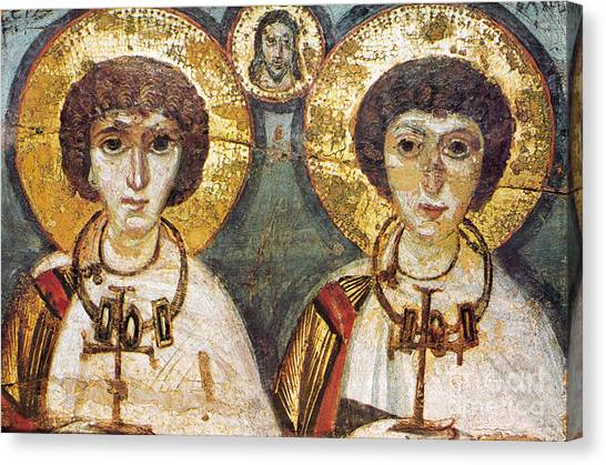 Byzantine Art Canvas Print - Saints Sergius And Bacchus by Granger