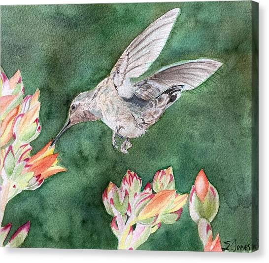 Saki's Visit Canvas Print